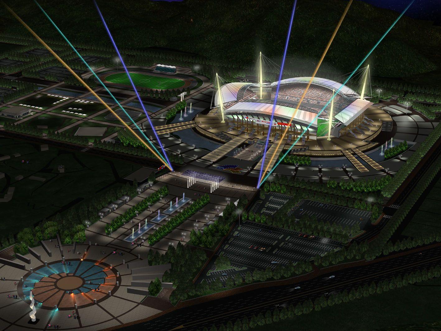 전주월드컵경기장 (Jeonju World Cup Stadium) in 전주시, 全羅