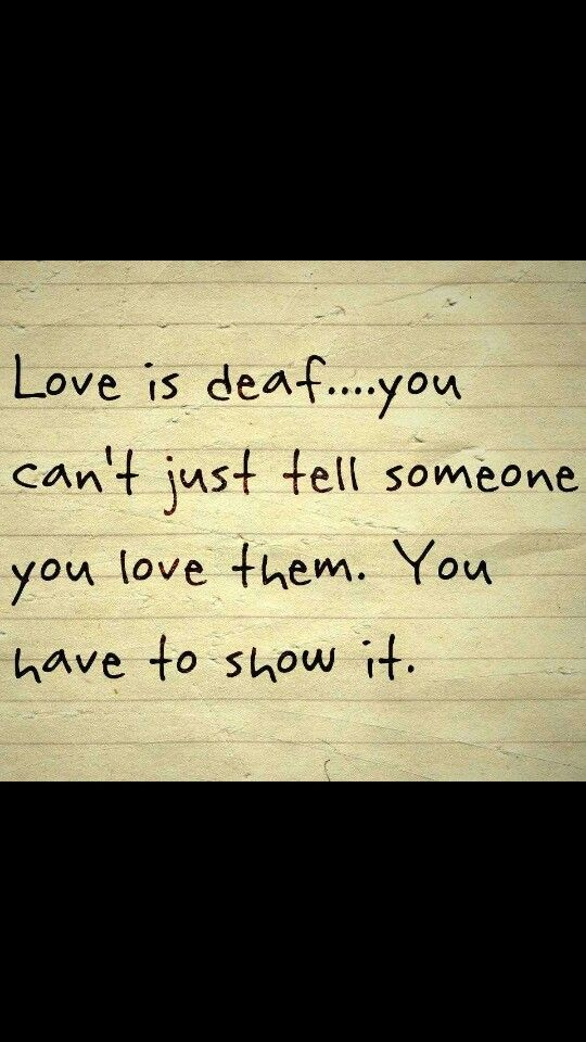 Love can't hear... show it!