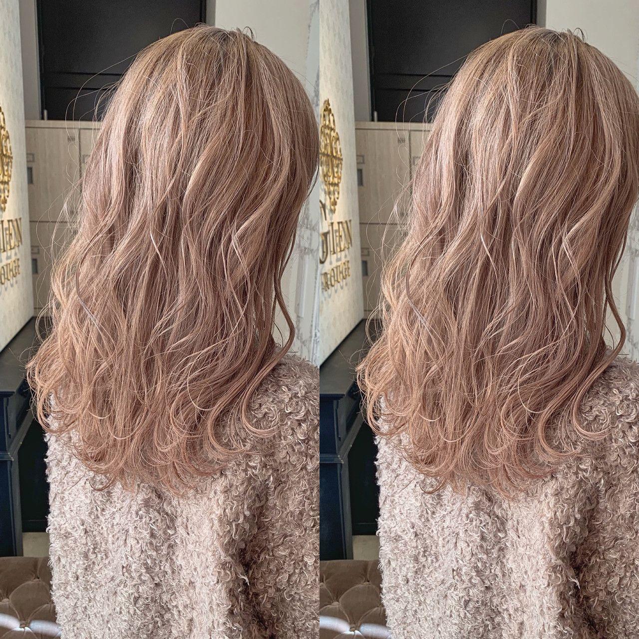 モテ重視 ミルクティーベージュは おフェロな魔法のヘアカラー Hair 髪色 ベージュ 髪色 ミルクティー 髪 色 明るめ