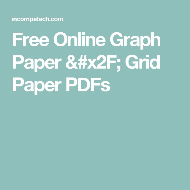 free online graph paper grid paper pdfs bullet journal pinterest