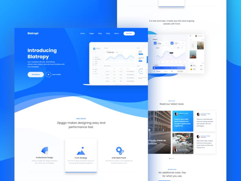 Saas Landing Page Web Design Websites Page Layout Design Web Design