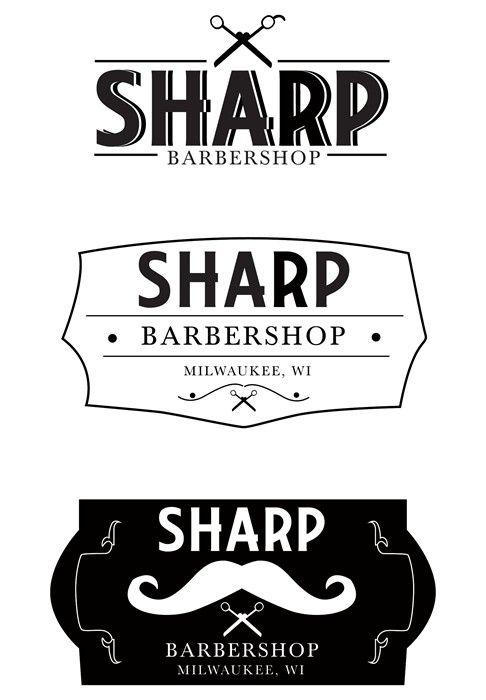 Upscale Barbershop Logos Created In Illustrator By Nicole