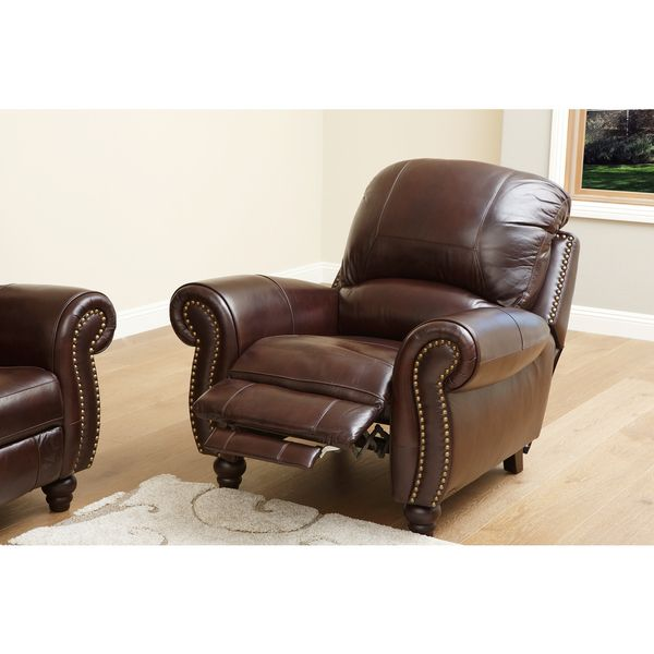 Gentil ABBYSON LIVING Madison Premium Grade Leather Pushback Recliner