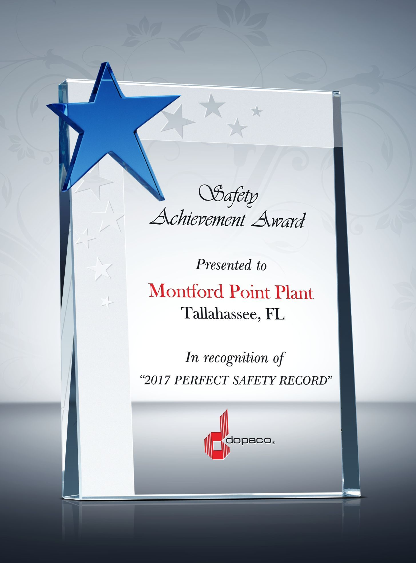 safety star award plaque  u0026 sample wording ideas