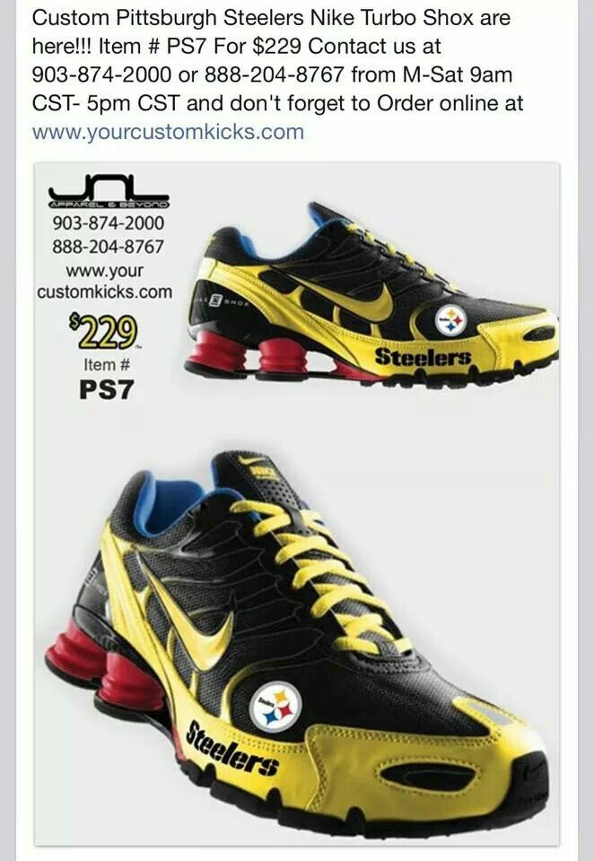 Pittsburgh Steelers Nike shoes: The ultimate gift for my husband who bleeds black and gold!