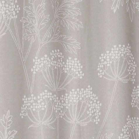 Buy John Lewis Cow Parsley Shower Curtain Soft Grey Online At Johnlewis