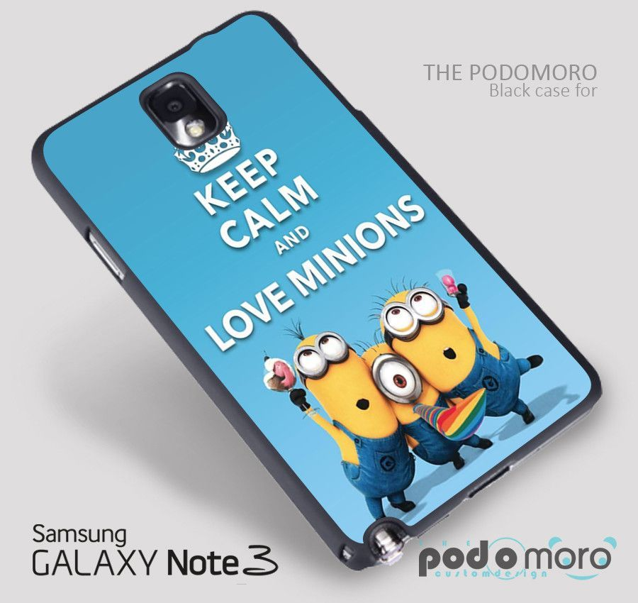 KEEP CALM and Love Minions for iPhone 4/4S, iPhone 5/5S, iPhone 5c, iPhone 6, iPhone 6 Plus, iPod 4, iPod 5, Samsung Galaxy S3, Galaxy S4, Galaxy S5, Galaxy S6, Samsung Galaxy Note 3, Galaxy Note 4, Phone Case