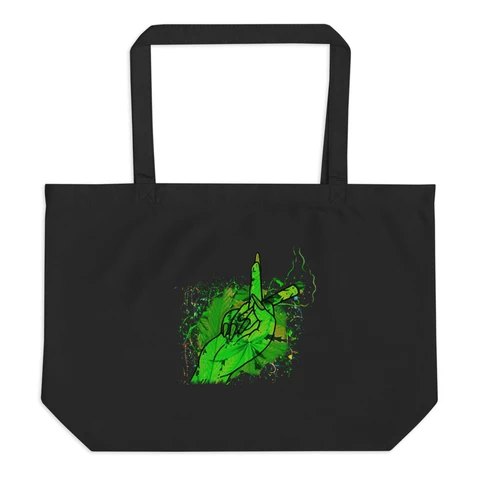 Let It Go Blunt And Finger Large Organic Tote Bag Maryjaywana Tote Bag Tote Bags