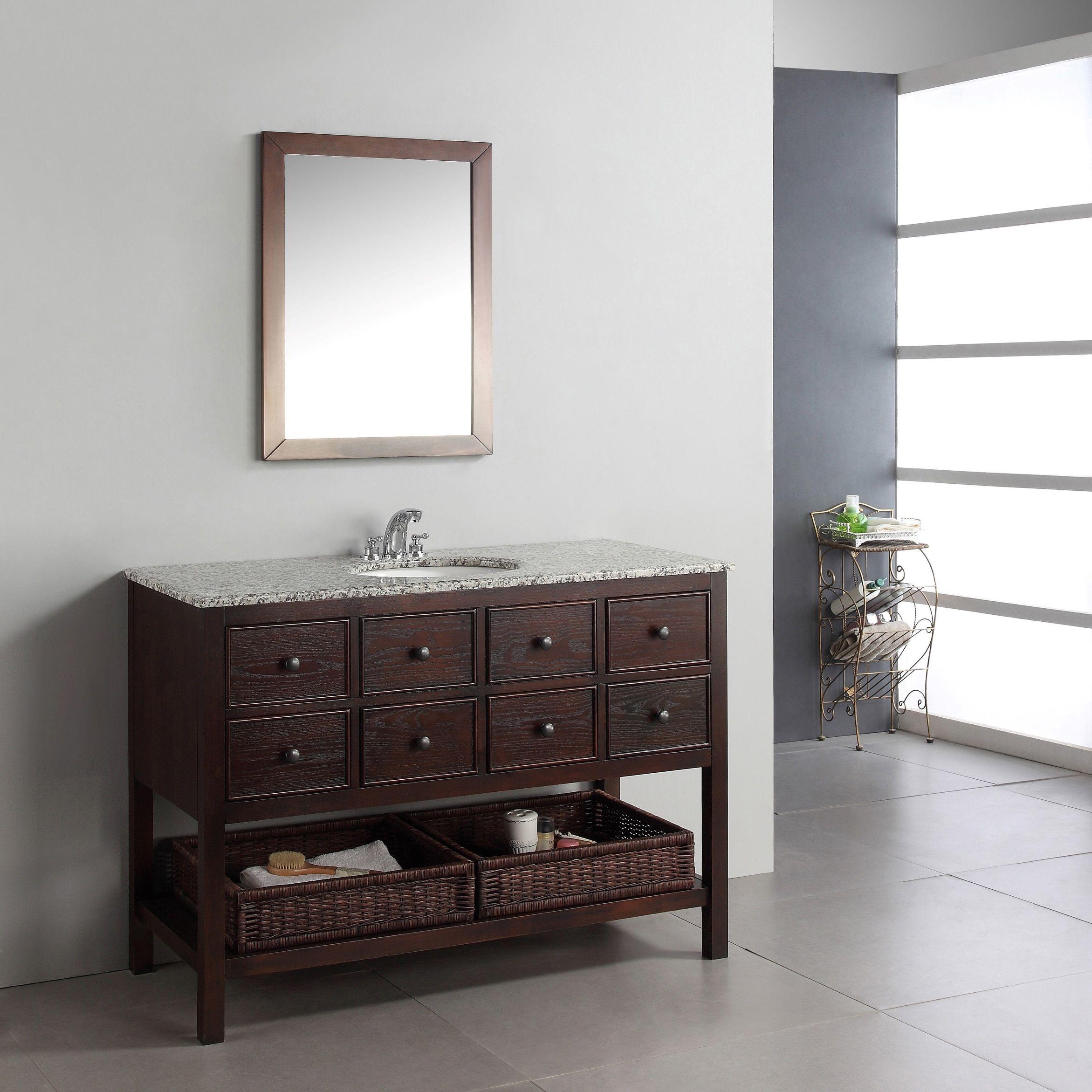 Wyndenhall new haven walnut brown drawer inch bath vanity set