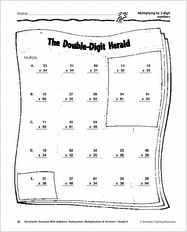 math worksheet : 1000 images about math on pinterest  long division greatest  : Double Digit Multiplication Worksheets Grade 4