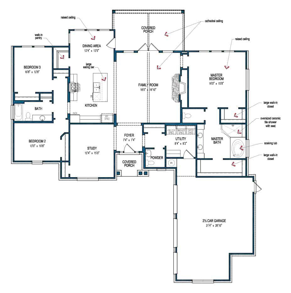Floor Plan Driftwood Tilson Homes Custom Home Plans House Plans Floor Plans