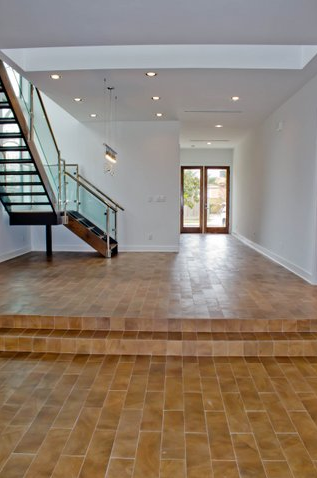 west university contemporary glass stairs modern white house