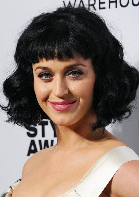 Actress With Short Black Hair And Bangs