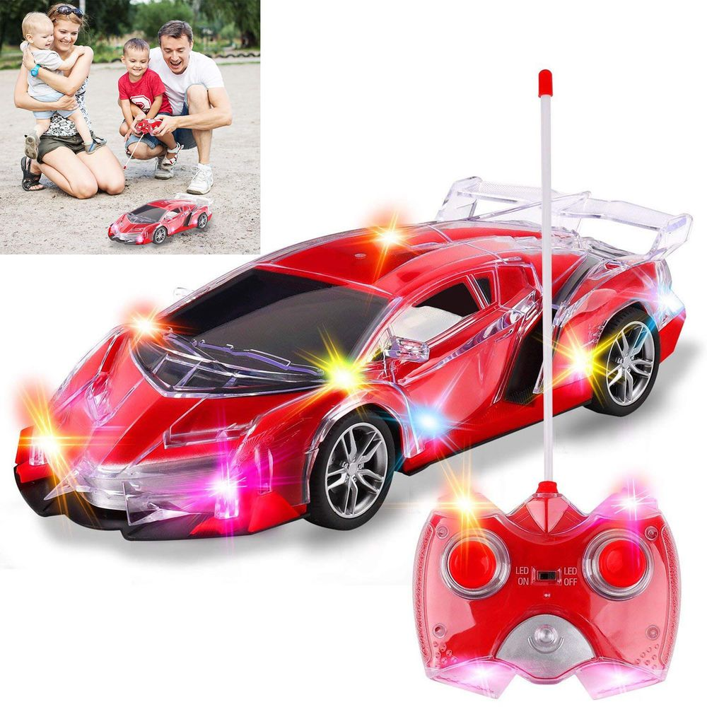 Beginner S Toddlers Police Car Remote Control Car Led Lights Toy Girls Boys Toys