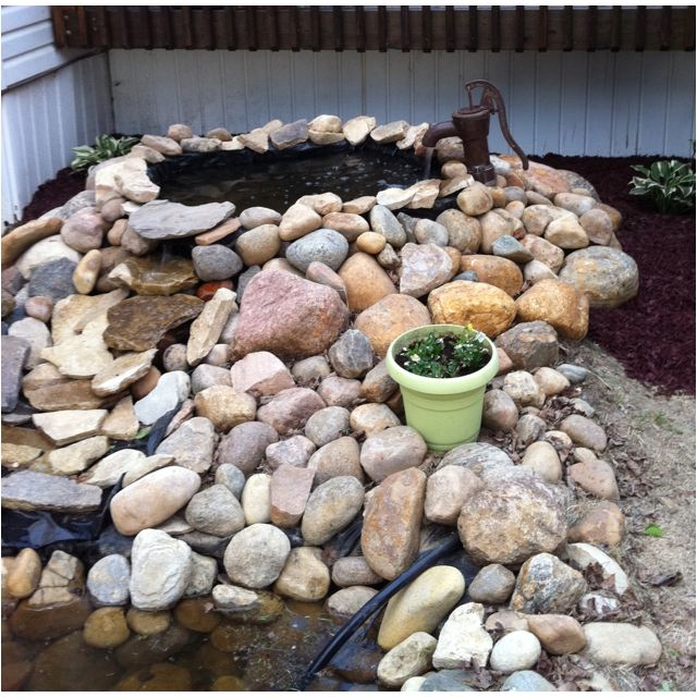 Diy pond lisa 39 s likes pinterest diy pond and gardens for Homemade pond ideas