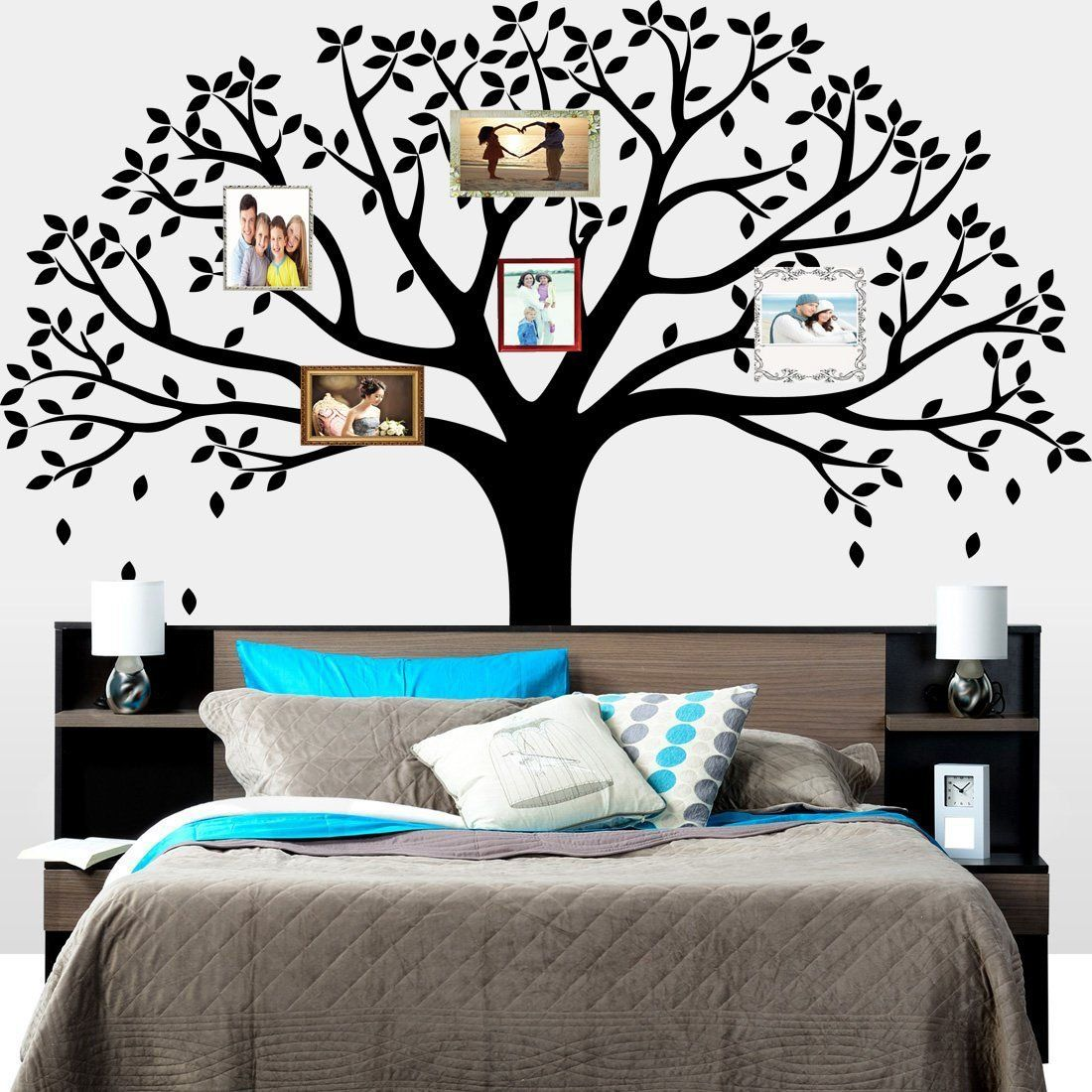 LUCKKYY® Large Family Photo Tree Wall Decor Wall Sticker Tree Branch Family  Like Branches On