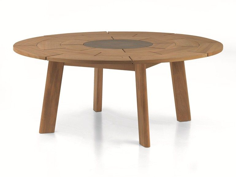 Round Teak Table Brick Brick Collection By Roda Design Gordon Guillaumier Quality Outdoor Furniture Teak Table Round Outdoor Dining Table