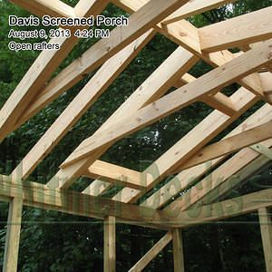 Rafter Ties And Skylight Framing Screen Porch