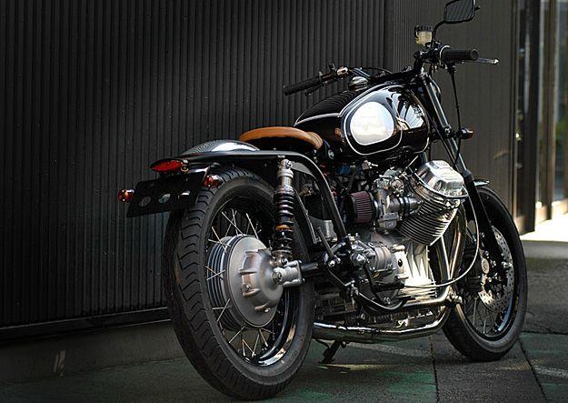 moto guzzi v7 custom   moto guzzi, motorbikes and cafes