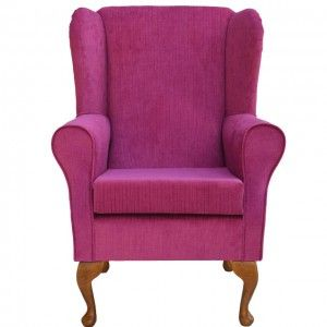 Pink Fuschia Armchair Wingback Chair Seating From Homecrush