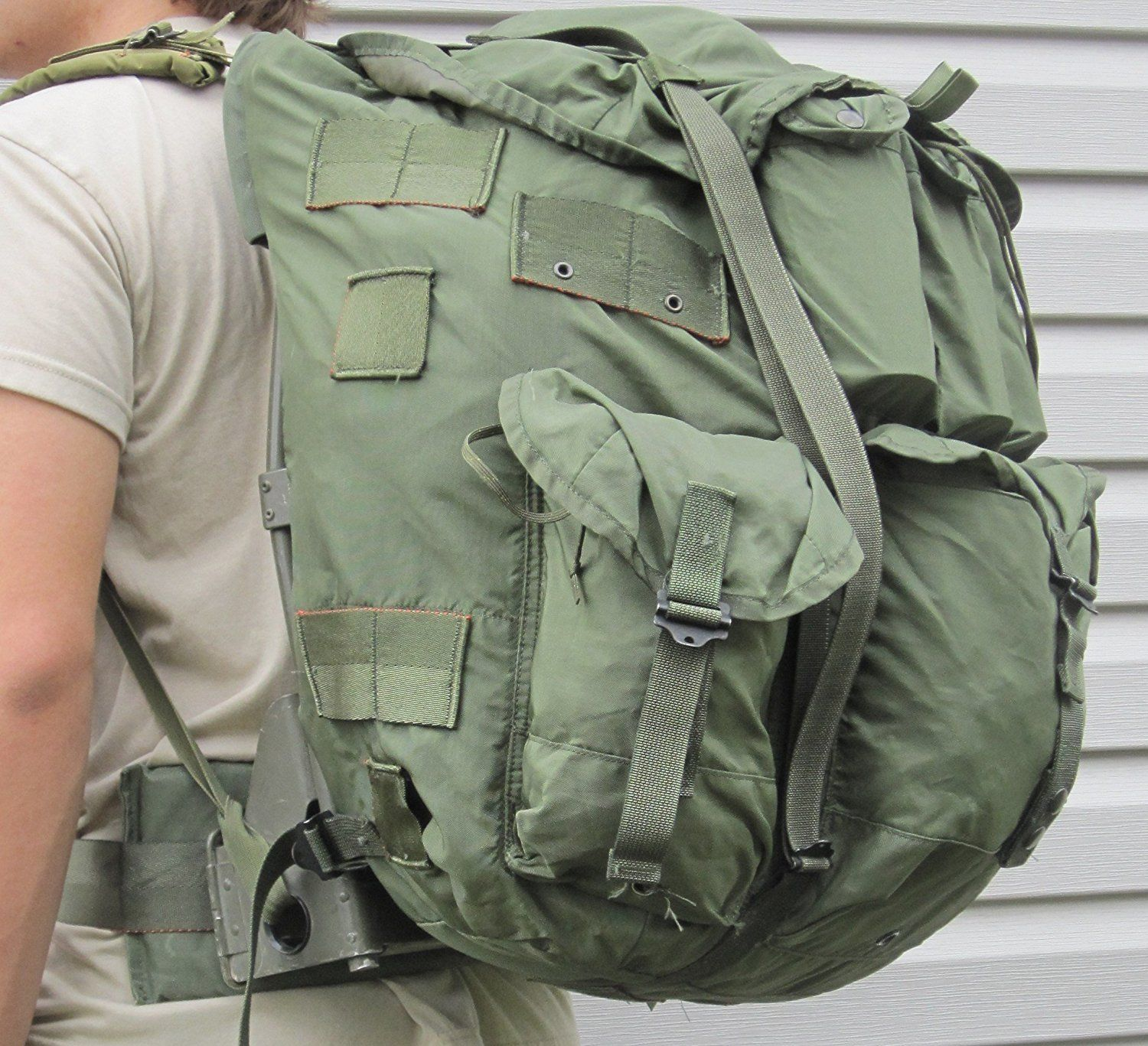 Camping Bags Backpack And Accessories Usgi Military Large Olive Drab Alice Pack W Straps Frame Pad Complete New Military Camping Bag Outdoor Backpacks