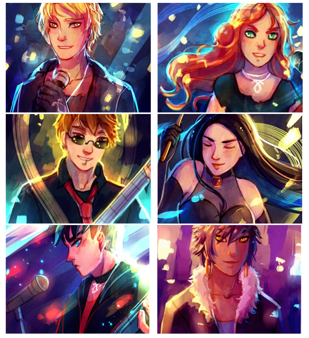 The Mortal Instruments Band ...Drawing and idea is from ...