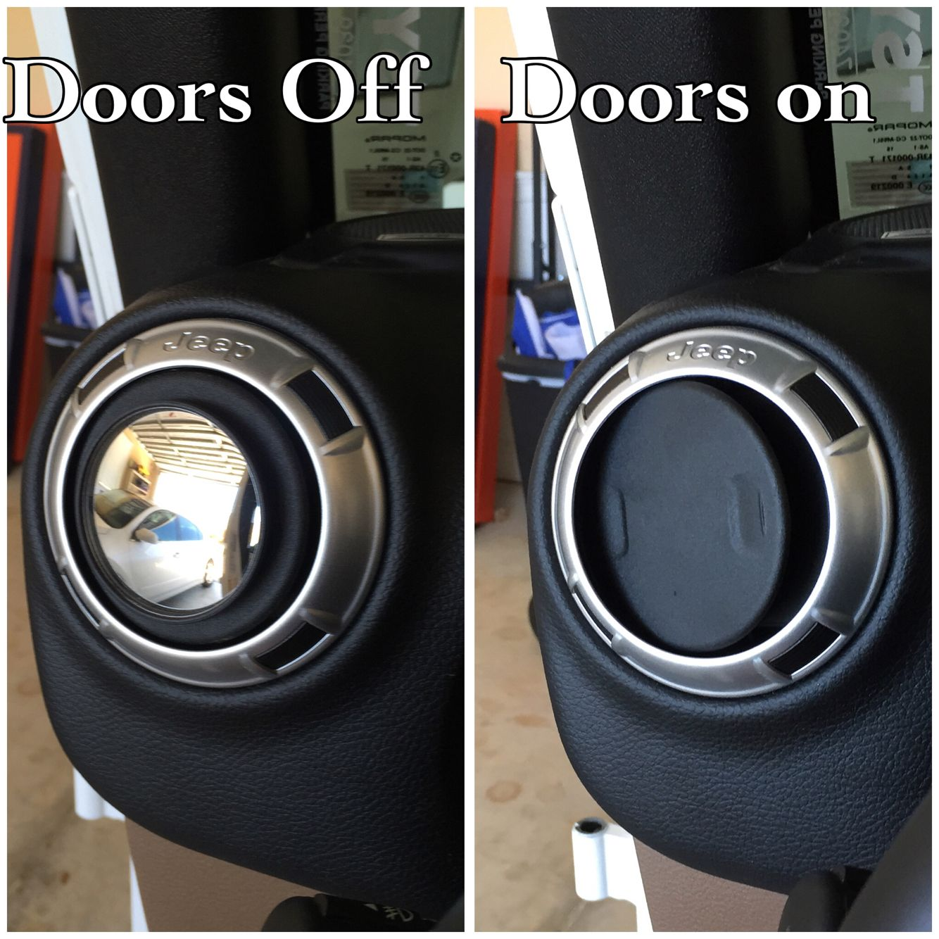 Cheap Jeep Hack Cheap Blindspot Mirrors For When The Doors Are