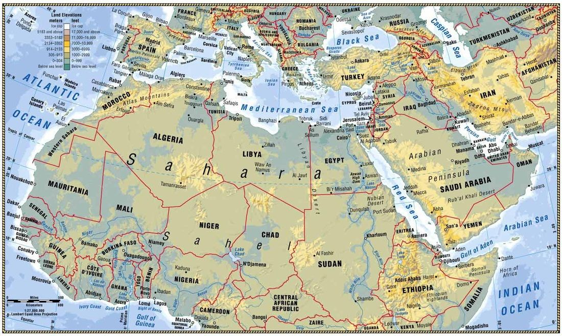 Picture | Stuff to Buy | Asia map, North africa, Africa