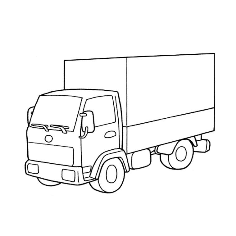 Coloriage Camion A Colorier Dessin A Imprimer Truck Coloring Pages Coloring Pages For Boys Cars Coloring Pages
