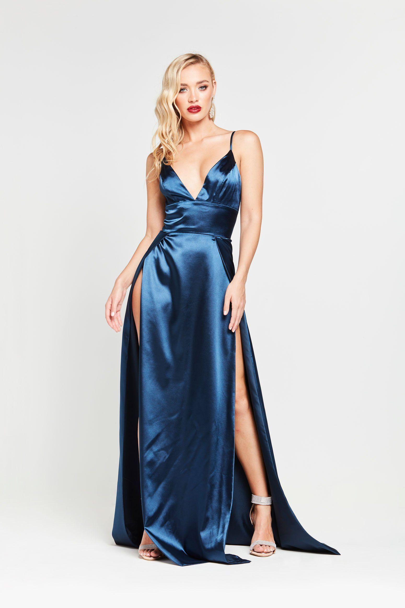 Tiffany Blue Satin Dress