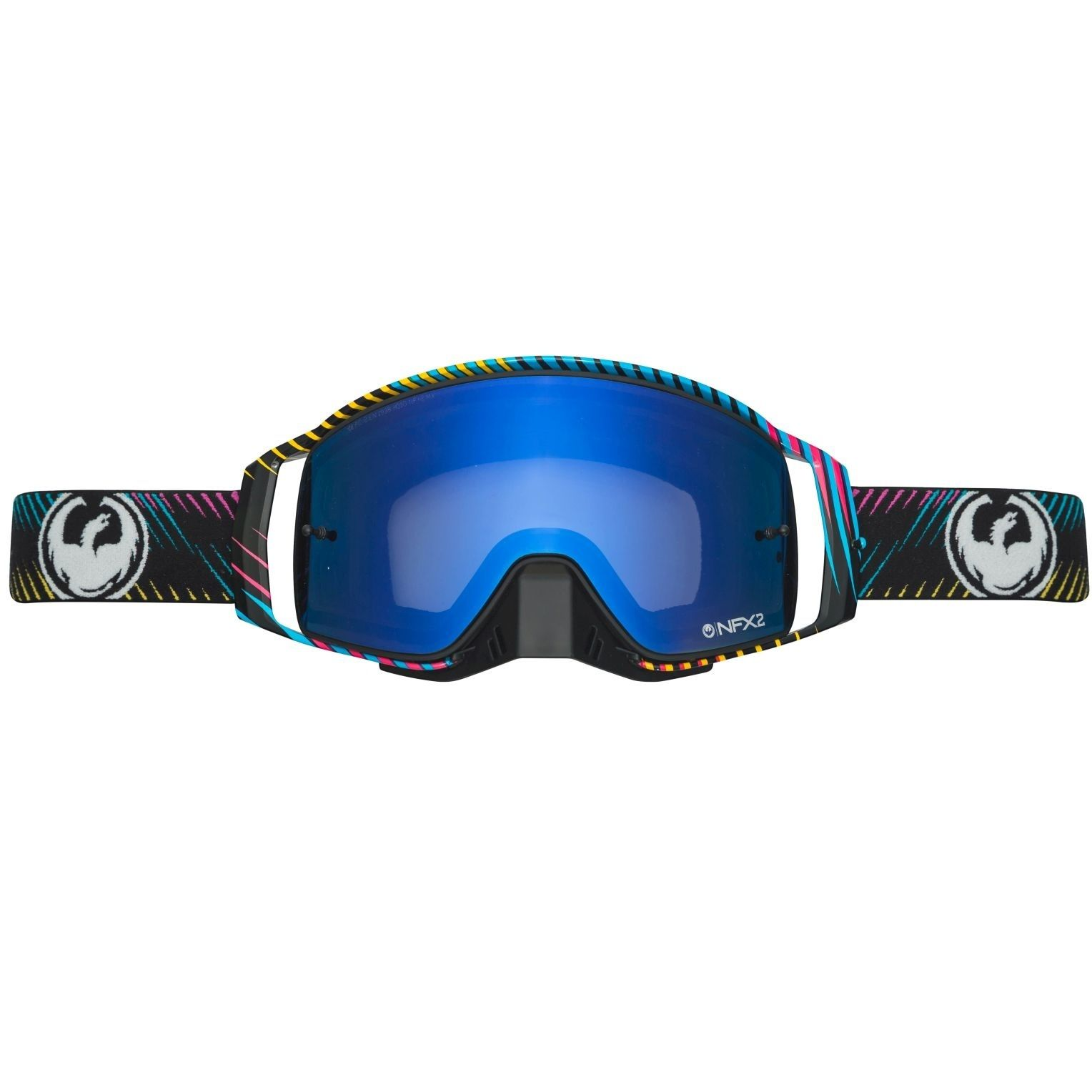 Dragon NFX2 Blur Injected Blue Steel Goggles (With Images