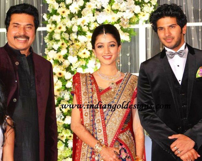 Designs Jewellery Mammootty Son Dalquar Salman Wedding Reception