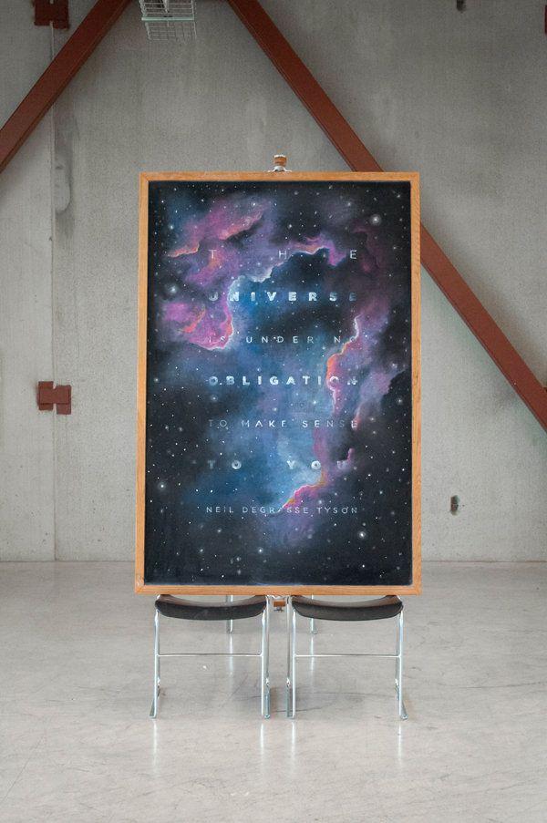 Mysterious Chalkboard Art Wows Campus Thr Universe Is Under No Obligation To Make Sense To You Neil Degrasse Ty Chalkboard Art Chalk Typography Chalk Art