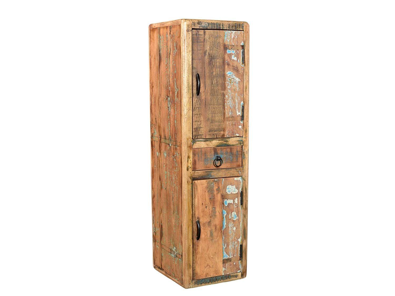 Woodkings Bad Hochschrank Kalkutta Recyceltes Holz Bunt Rustikal Hangebad Badhochschrank Massiv Badmobel Massiv Bad Hochschrank Hochschrank Badmobel Massivholz