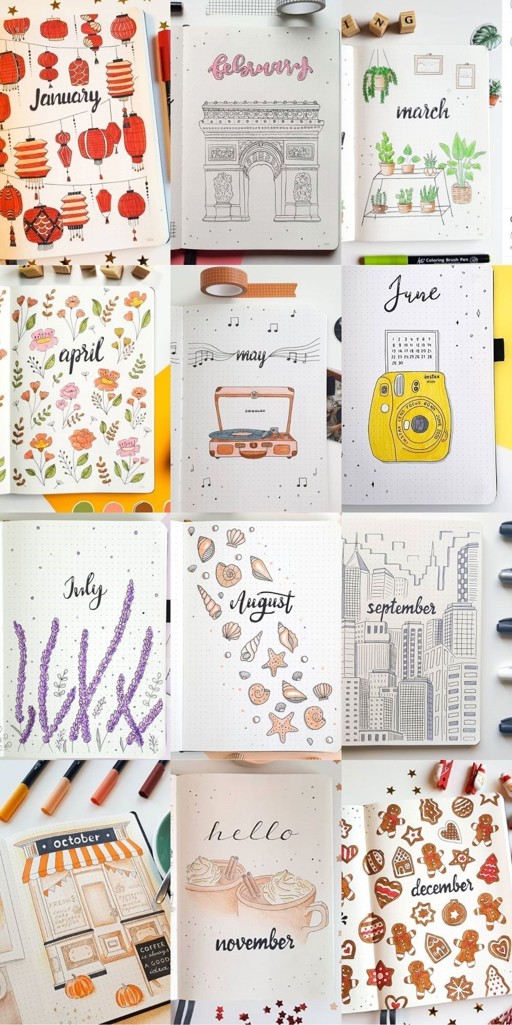 Bullet Journal Spread Ideas for Every Month of the
