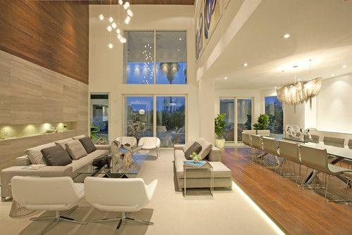 A Modern Miami Home Modern Living Room Living Room Design Modern Long Living Room Residential Interior Design Modern living room design houzz