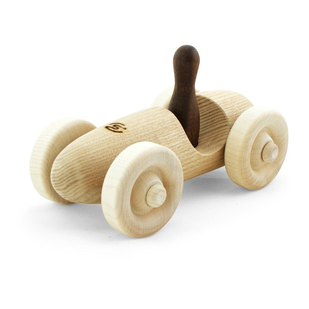 Wooden toy formula one vintage style hand crafted