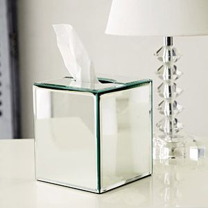 Mirror Tissue Box Cover Clear By The