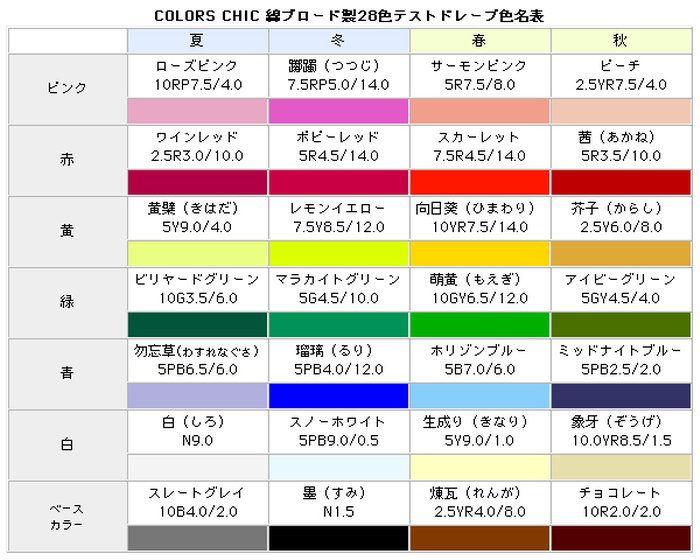 パーソナル カラー テスト 【パーソナルカラー自己診断】Web上で無料チェック!