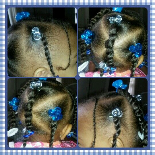 Infant girl hair do with
