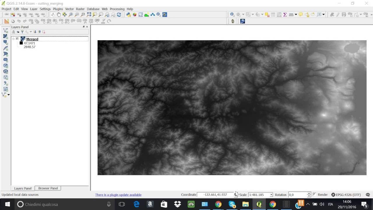 MERGE raster in Qgis (GDAL algorithm) | Geospatial / GIS