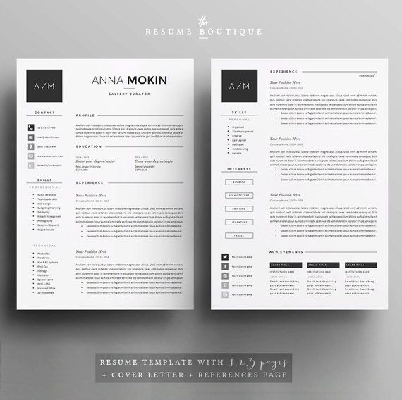 5 page Resume / CV Template + Cover Letter + References for MS Word - 5 resume tips