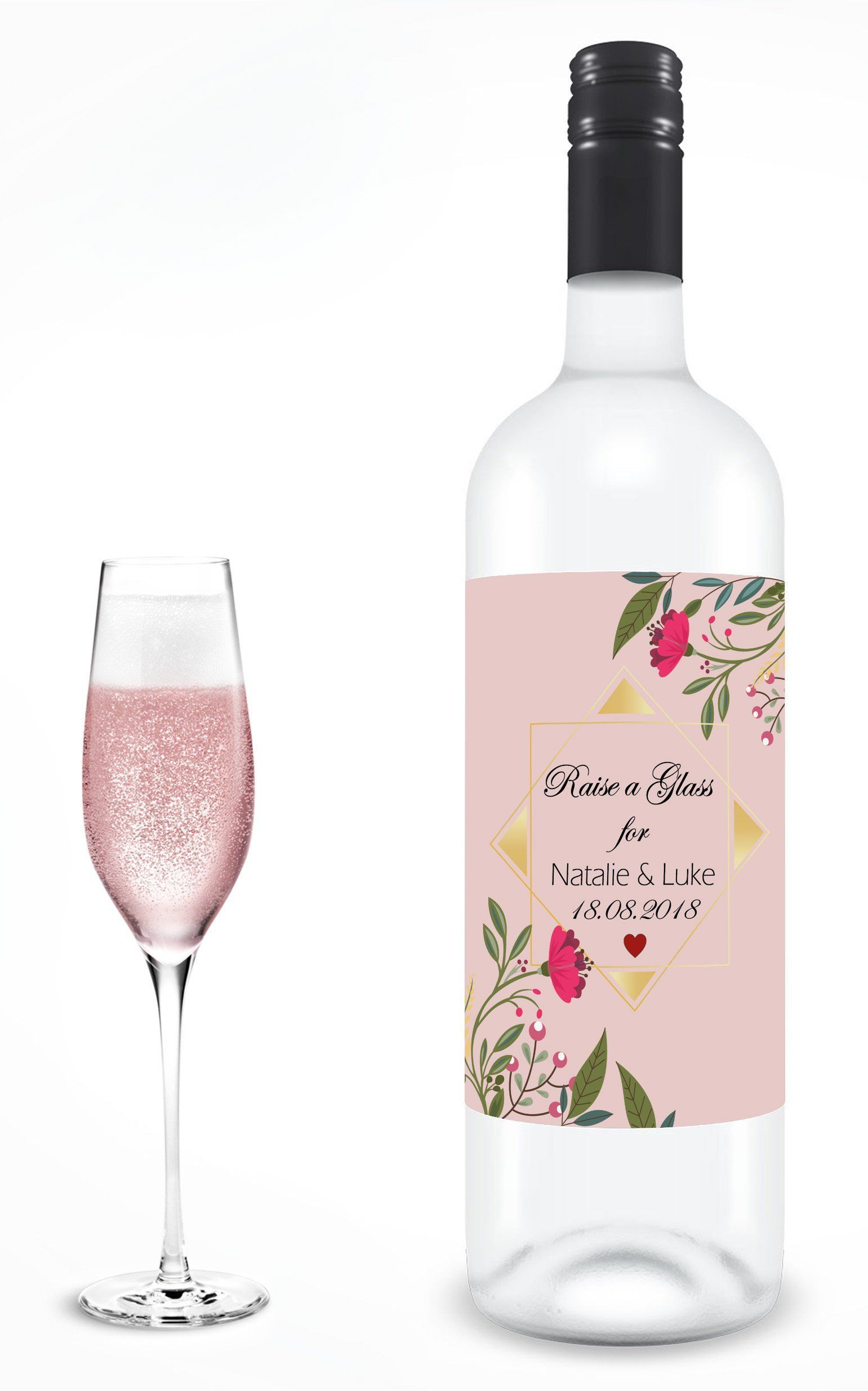 DIY Vinyl Label Decals Future Mrs Personalised Wine Glass Label Customise with your own wording and colour