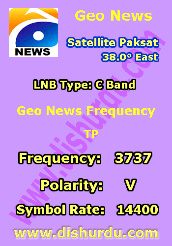 Geo News Frequency Paksat 38 East Live In 2020 Geo News Tv Channel List Tv Channel