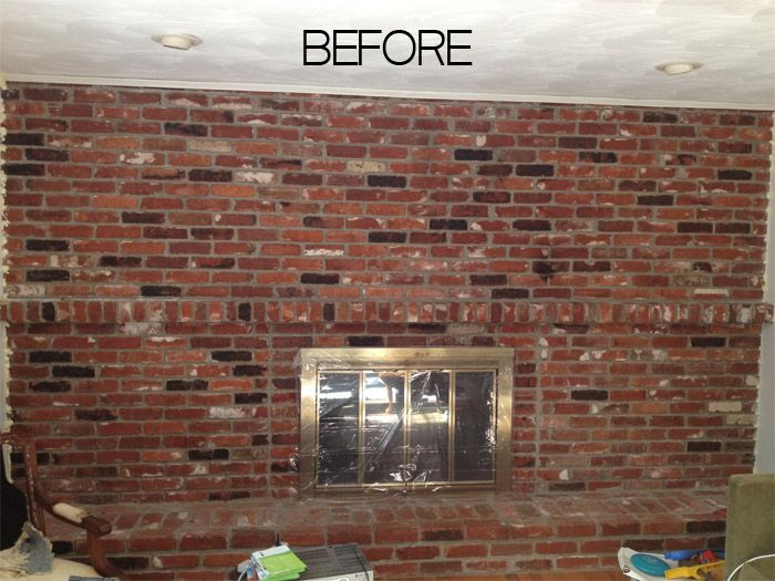 Camini In Mattoni Rossi : How to paint an old brick fireplace