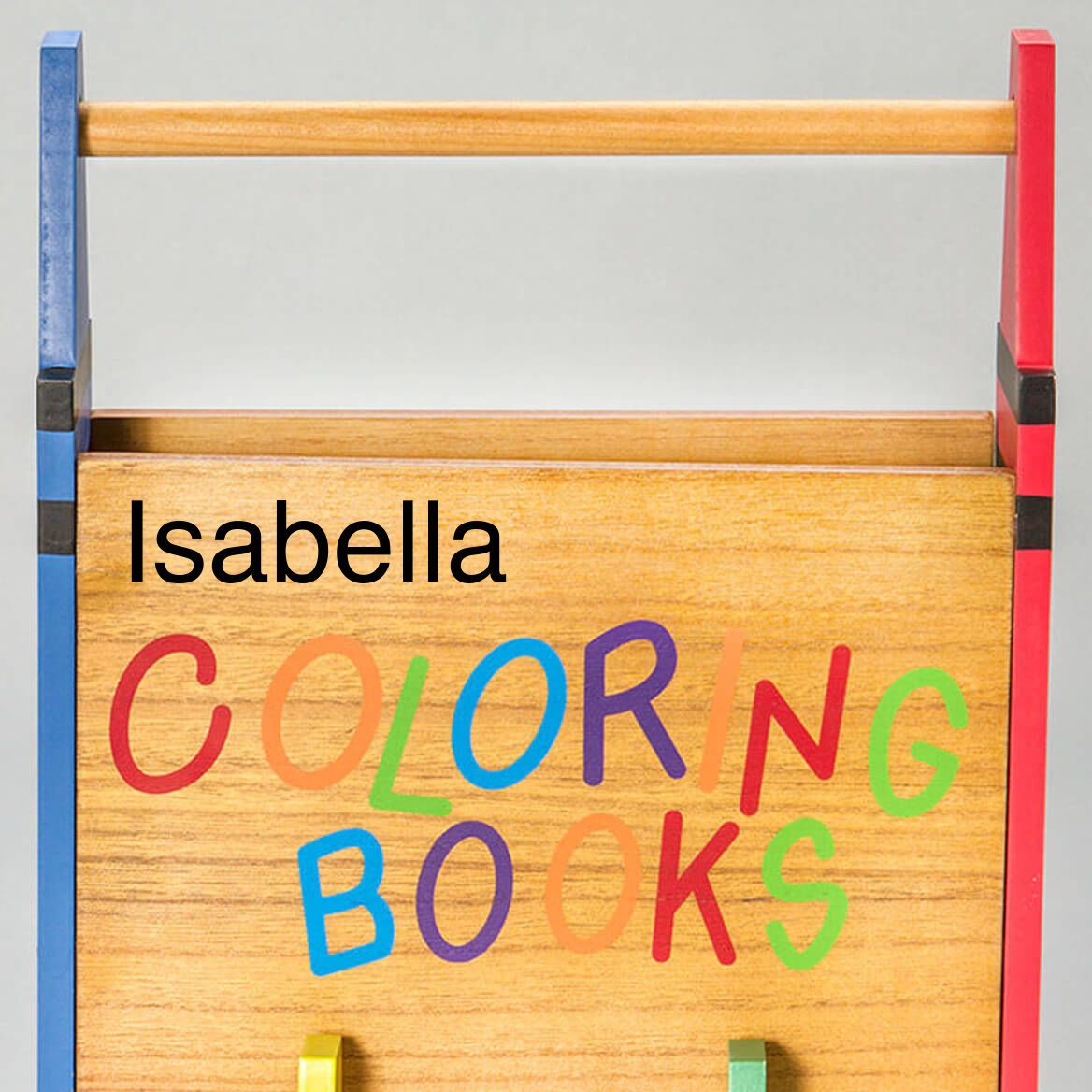Personalized Coloring Book Holder Children S Miles Kimball Personalized Coloring Book Coloring Book Storage Book Caddy