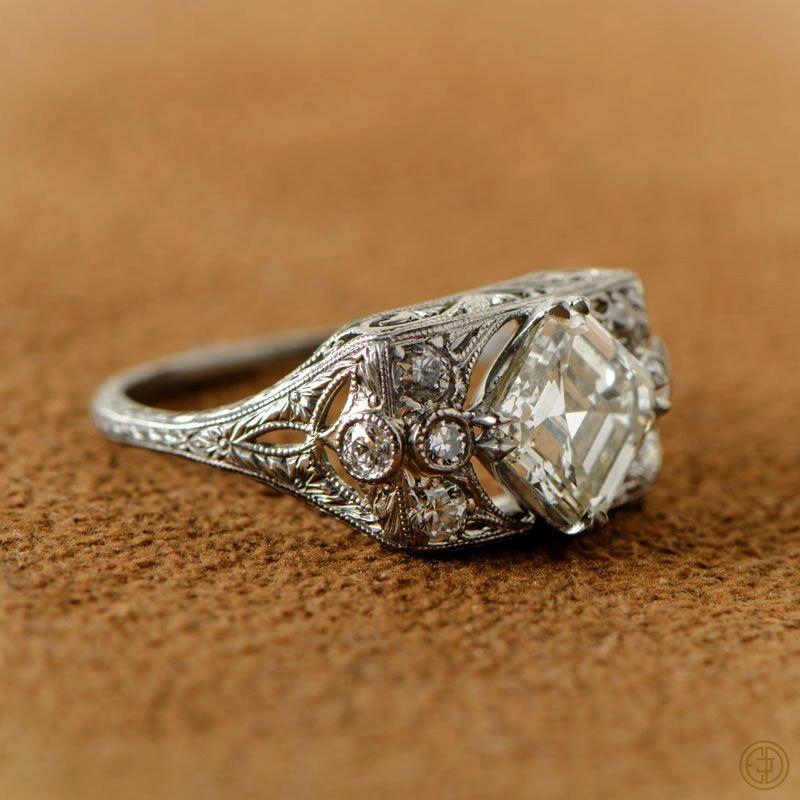 Calla Lily Diamond Engagement Ring