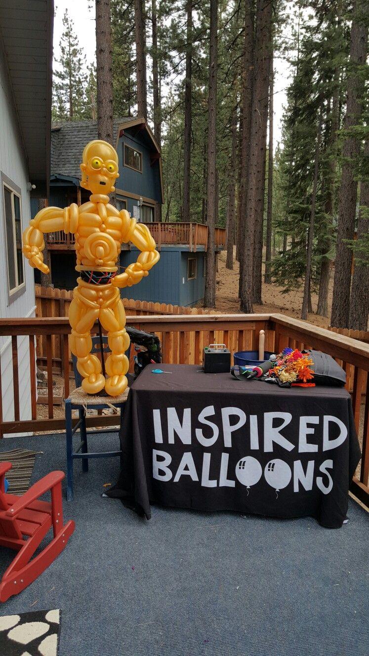 Balloon Art, Star Wars, C3PO, Balloon Twisting