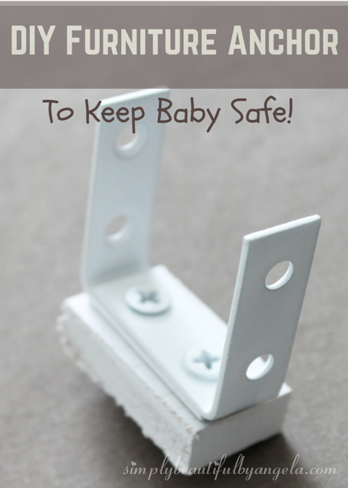 DIY Furniture Anchor/Mount To Keep Baby Safe. Furniture Childproofing.