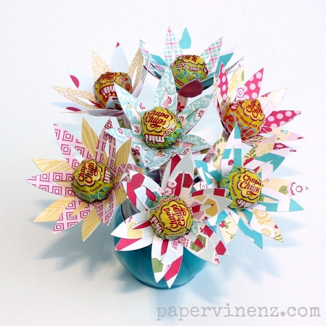 Papervine lollipop flowers perfect for easter echo park my gift negle Images